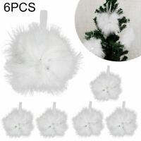6* Vintage Feder hängende Stern Ornament Weihnachtsbaum Weihnachtsschmuck Dekor