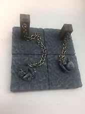 D&D bone piles, chains, and posts. Miniature dungeon terrain. pathfinder dwarven