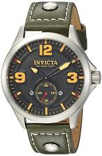 Invicta 22529 Aviator Men's 44mm Stainless Steel Black Dial Watch