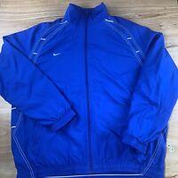 Vintage Nike Mens White Wind Breaker mesh lined Track Jacket Full Zip spelout 2X