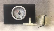 52 mm Blanco Impermeable Turbo Boost Gauge 2 Bar Ideal para Marina Kitcar