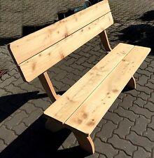 Massive Lärchen Garten Bank 130 cm FSC Holz Sitzbank Parkbank mit Lehne NEU