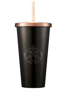 Starbucks Korea SS Black & Gold Cold Cup 591ml