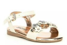 NIB Girls Kids Michael Kors Tilly Tansy-T Buckle Ankle Vanilla Rose Gold Sandals