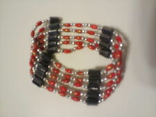 Magnetic Hematite Beads Wristband Bracelet Bangle Chain Choker Necklace RED