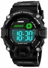 Men Sport Watch Talking Music Alarm Snooze LED Digital Watches Outdoor Military