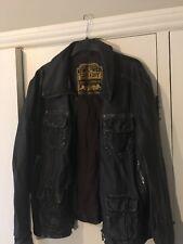 Superdry Brad leather jacket Large (customised)