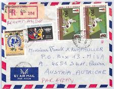 CA29 Madagascar 1990 RD malgache Cubierta de correo aéreo registrado vehículos misionero