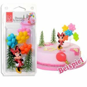 Tortenfiguren Set Minnie Mouse für Geburtstagstorte Mädchen,  4-tlg.Tortendeko
