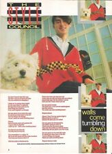STYLE COUNCIL PAUL WELLER Walls lyrics magazine PHOTO/clipping 11x8 inches