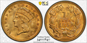 Best Price!!! 1874 $1 Gold Coin PCGS MS-65