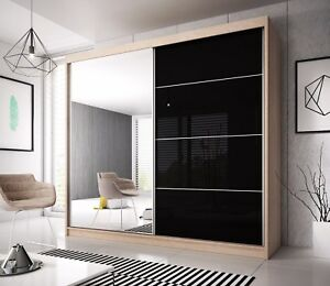 Modern Wardrobe MU 6ft8in (203 cm) sliding doors perfect interior FREE DELIVERY