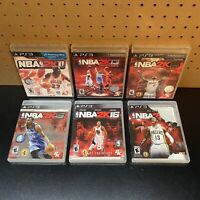 6 Game Lot-NBA 2K11 2K13 2K14 2K15 2K16 & 2K17 (PlayStation 3,PS3) Tested
