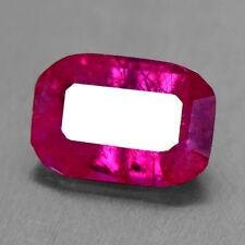 .93 Cts Natural Top Amazing Blood Red Ruby Gemstone Emerald Cut Lot Burma Video
