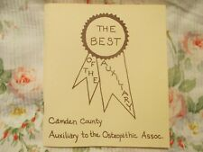 The Best of the Auxiliary- Camden County Auxiliary to the Osteopathic Assoc.