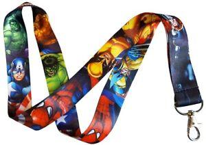 Marvel Heroes Lanyard - Captain America,Hulk,Spiderman,Thor,Wolverine, The Thing
