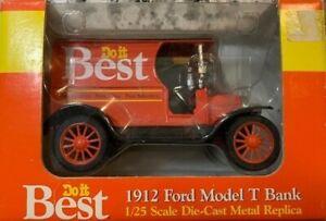 Do it Best 1912 Ford Model T Bank 1/25 Scale Metal Replica