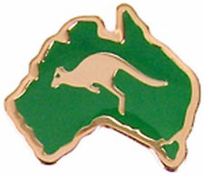 Australian Souvenir Enamel Australia Map Kangaroo Hat Pin Stick Lapel Badge