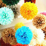 """10"""" Tissue Paper Pom Poms Flowers Ball Party Wedding Baby Shower Event Decor HOT"""