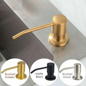 Dispenser Soap Liquid Hand Sanitzer Pump Kitchen Steel Stainless Bottle Bathroom