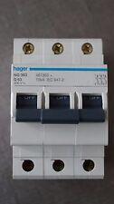 Disjoncteur MCB 3P 63A D 10 KVA HAGER référence NG 363 code 467363