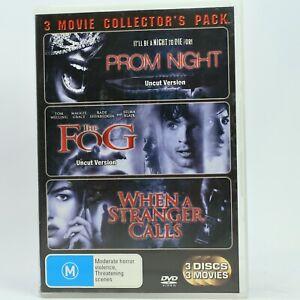 Prom Night / The Fog / When A Stranger Calls Horror 3 Movie DVD Pack GC