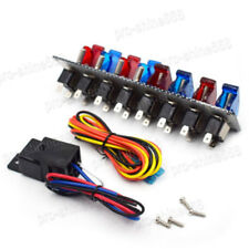 Racing Car 4 blue & 4 red Patterns Ignition Toggle switch Panel LED ON/OFF 12V