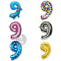 "Gold Silver Pink Blue Animal Polka 16"" Birthday Number Foil Balloon 0123456789"
