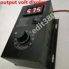 Universal 6V - 90V 12V PWM DC Motor Speed Control PLC 15A Governor Volt Display