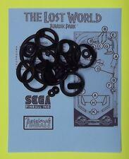 1997 Sega The Lost World Jurassic Park pinball rubber ring kit