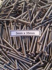 (100) 3mm x 35mm Button Head Stainless Steel Screws Team KNK Hardware Bulk Axial