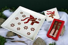 CRATE & BARREL GINGERBREAD MAN SERVING COMBO –NWT– SERVE UP SOME HOLIDAY WHIMSY!