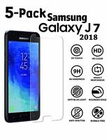 5x Tempered Glass Screen Protector For Samsung Galaxy J7/Crown/ Refine/V 2018