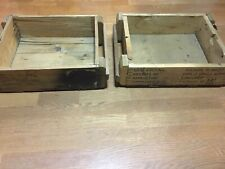 wooden ammo boxes no top used but in good shape