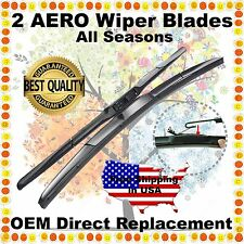 "AERO HYBRID 22"" & 18"" PREMIUM OEM QUALITY SUMMER WINTER WINDSHIELD WIPER BLADES"