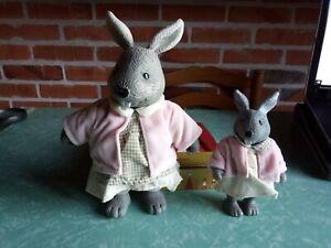Les Copains de La forêt :la lapine avec son enfant fille