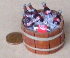 Beach party barbecue baignoire de coca cola bouteilles dans la glace maison de poupées boisson accessoire