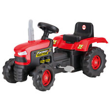 Dolu Kids Childrens Ride On Red Tractor Pedal Operated Toy Age 3+ Years