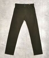 Mens BRAX x &more W34 L34 Cadiz Slim Straight Stretch Denim Jeans Green Khaki