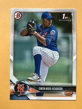 2018 Bowman Draft SIMEON WOODS-RICHARDSON Rookie Card RC New York METS #BD-181