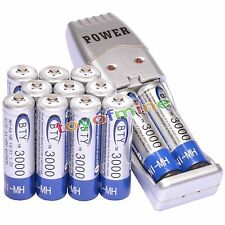 12x AA 3000mAh 1.2 V Ni-MH rechargeable battery BTY with Charger USB