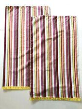 2 Ralph Lauren Beachside Preppy Queen Pillow Case Pink Yellow White Stripes