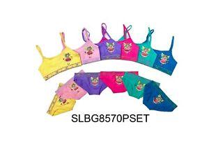 6 Sets Fairy Girl's Seamless Spaghetti Straps Bras & Bikini Underwear S M L 8570