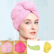 Loop Twist Button Hat Quick Towel Bath Turbie Wrap Drying Hair Cap