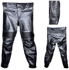 Motorcycle Leather Pants Trouser Touring Armour Protection Leather Biker Pants