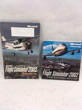 Microsoft Flight simulator 2002 professional edition 3 Discs Good Condition!