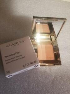 Clarins Bronzing Duo Mineral Powder Compact Bronzer SPF15 03 Dark/02 Medium