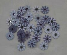 Flower Embellishments Purple, approx 30 pieces,with  Rhinestones