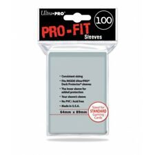 Ultra Pro SLEEVES Pro-Fit Standard C100 Card Game Clear - Item