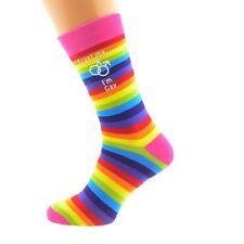 Trust me I'm Gay Male Sign Rainbow Socks Adult Socks UK 5-12 X6N553